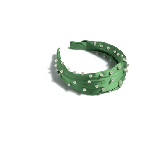Green Pearl Headband-VerClare Boutique, Chenoa Illinois