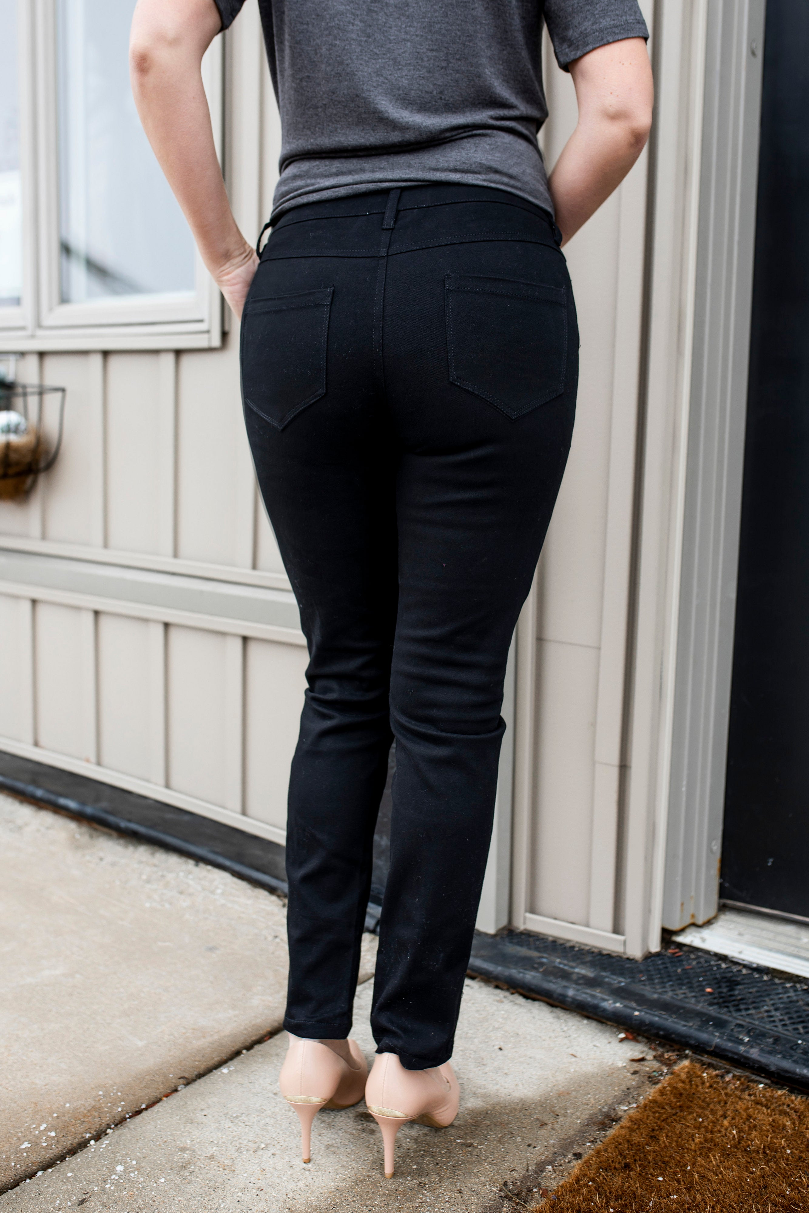 Zippered Pocket Straight-Leg Pants | VerClare Boutique