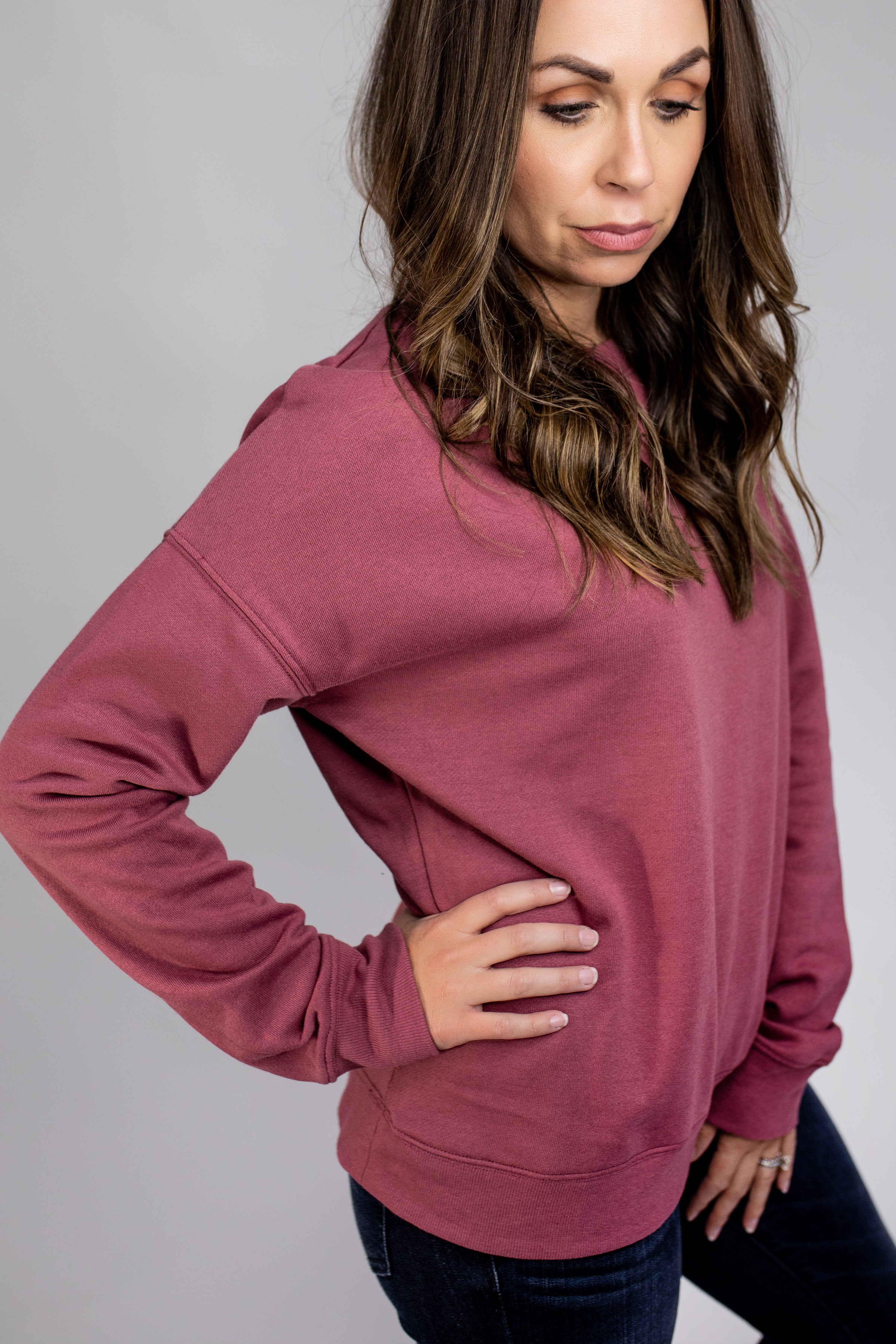 Casual Terry Sweater Top-2 Colors