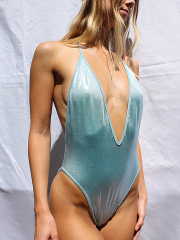V Neck Bodysuit - Moon Rock