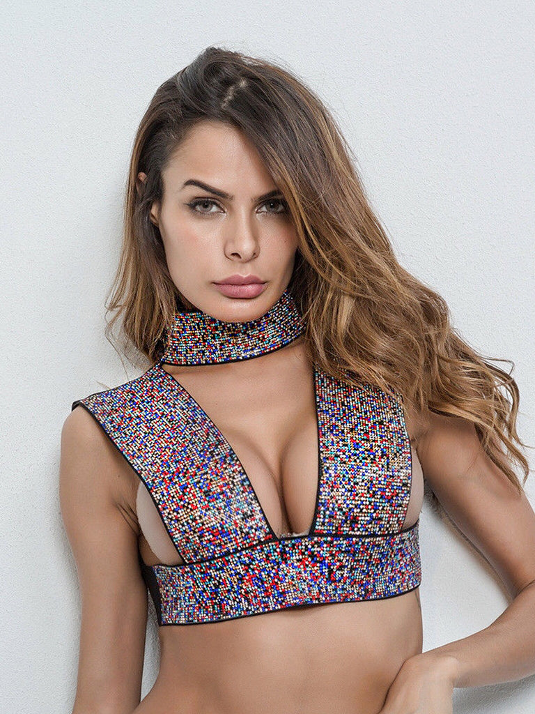 Gisela Crystalized Top- Multi