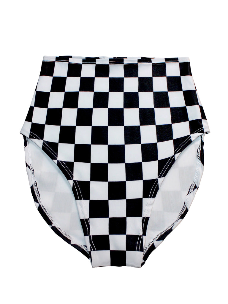 Mad Checkered High Waisted Bottom