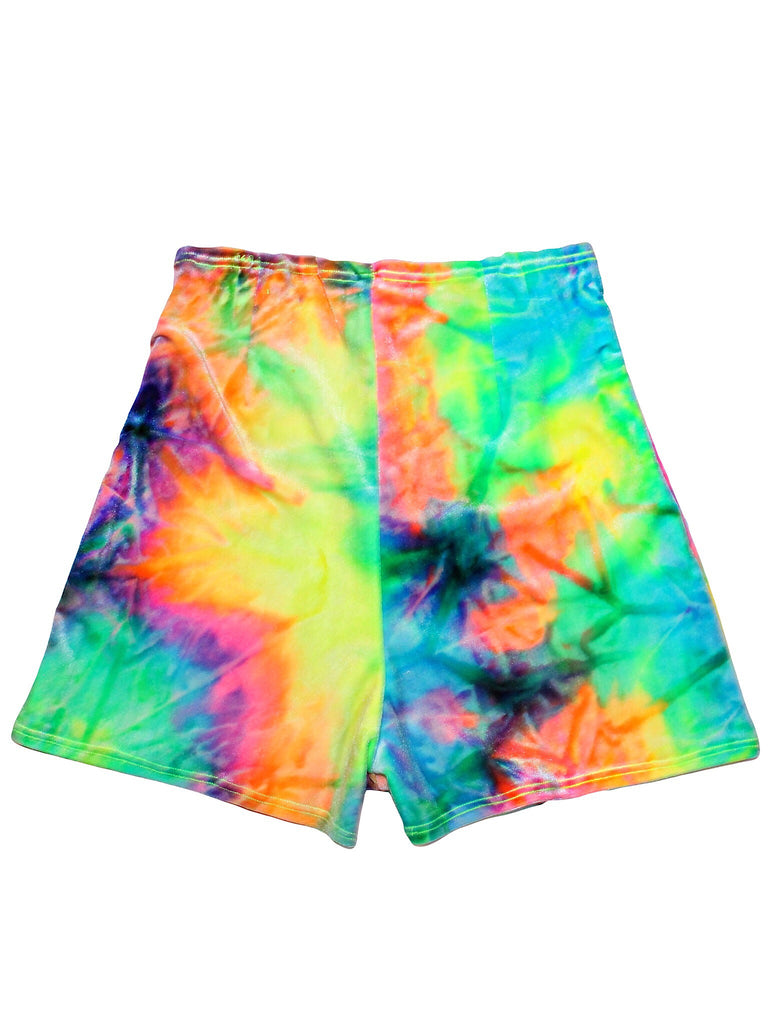 Day Trip Tie Dye Velvet High Waisted Short
