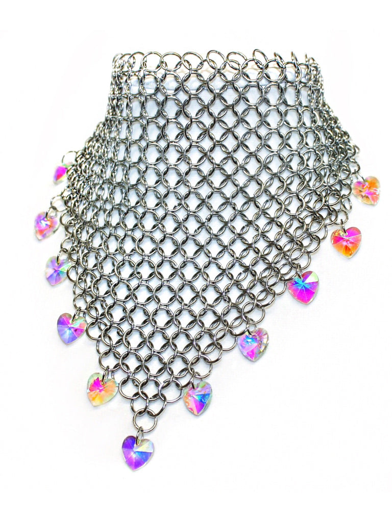 Truth or Dare Chainmail Bandanna Choker - shopoceanmoon