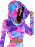 Fairy Tie Dye Velvet Long Sleeve Hoodie - shopoceanmoon