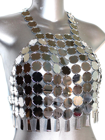 Disco de Moda Mirror Top- Silver