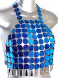 Disco de Moda Mirror Top- Blue