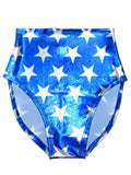 Lucky Star High Waisted Bottom- Blue