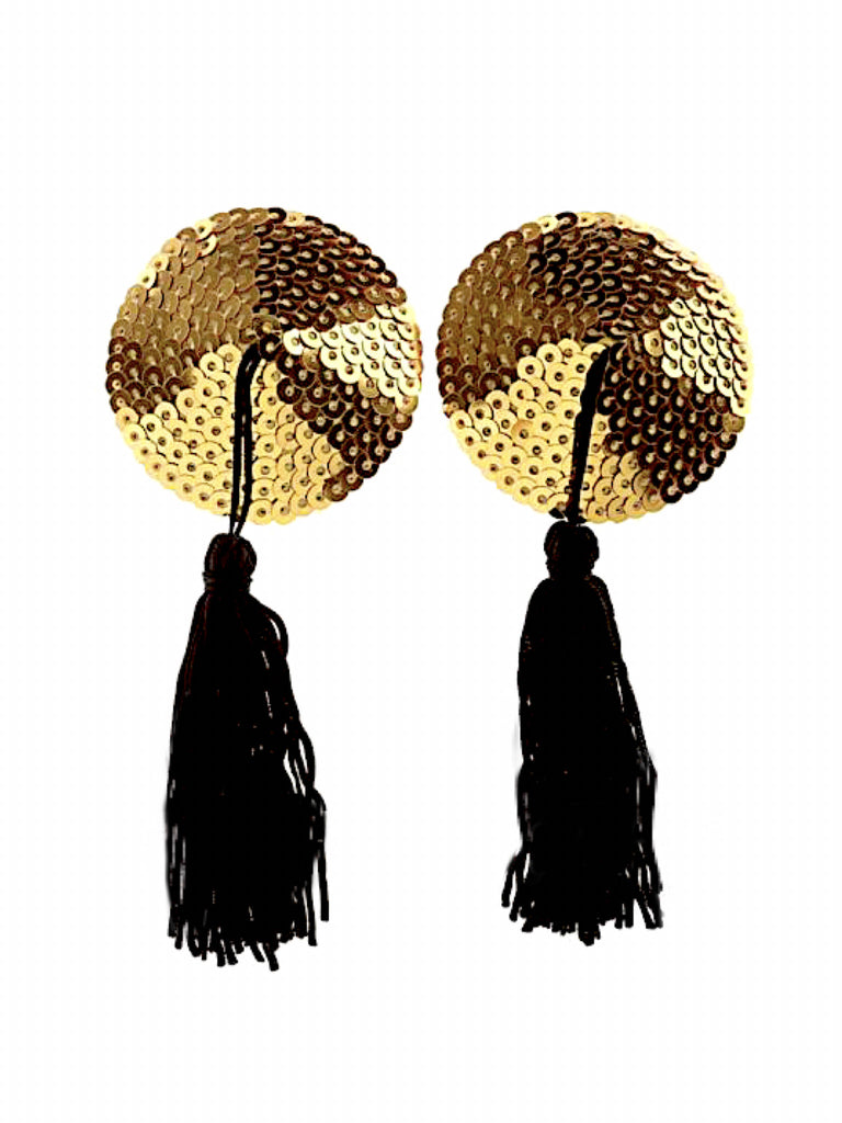 Material Girl Tassel Pasties- Gold