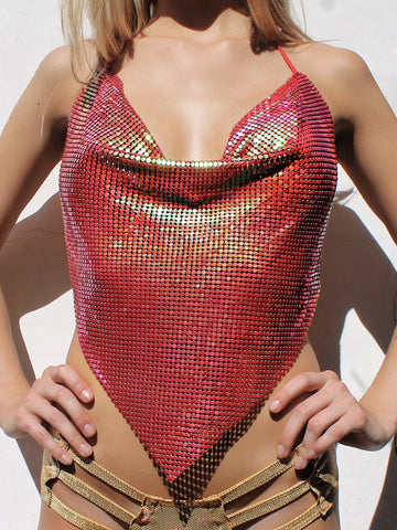 Chemical Reaction Metal Mesh Halter