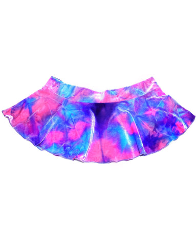 Fairy Tie Dye Velvet Mini Skirt