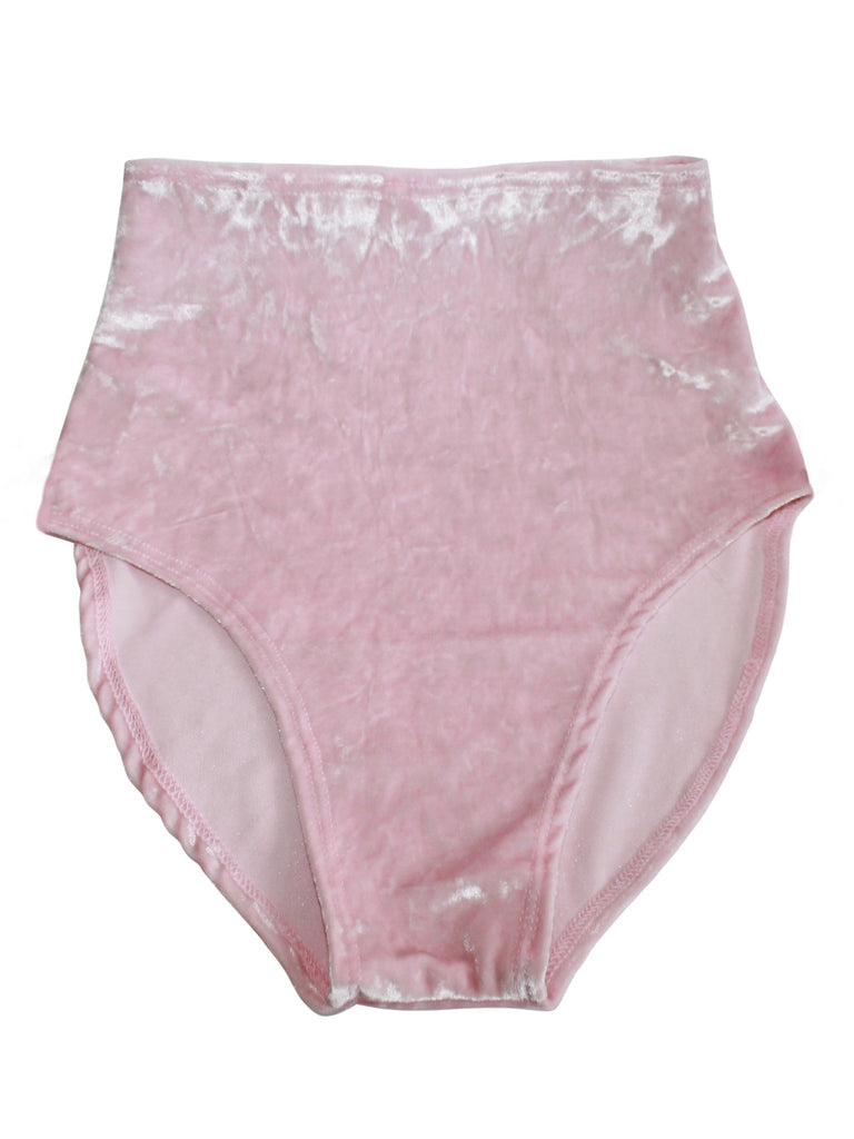 Kylie Velvet High Waisted Bottom - shopoceanmoon
