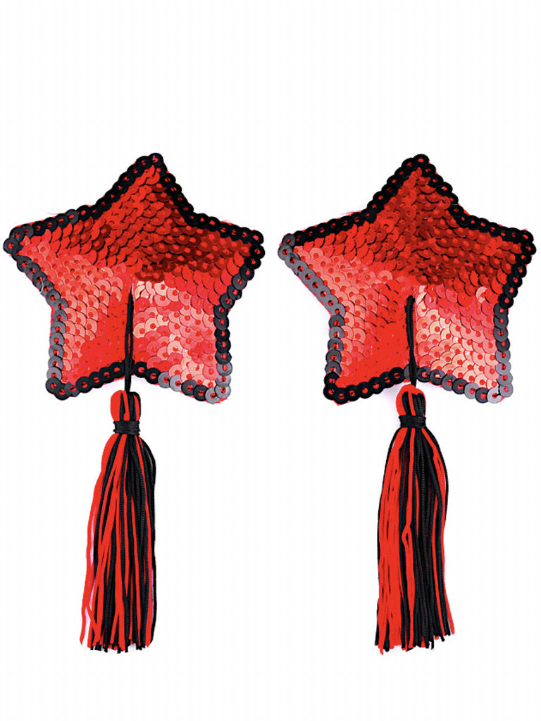 Stars Are Blind Tassel Pasties- Red