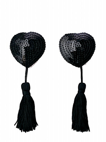 Heartache Tassel Pasties- Black