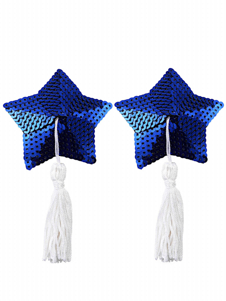 Stars Are Blind Tassel Pasties- Blue