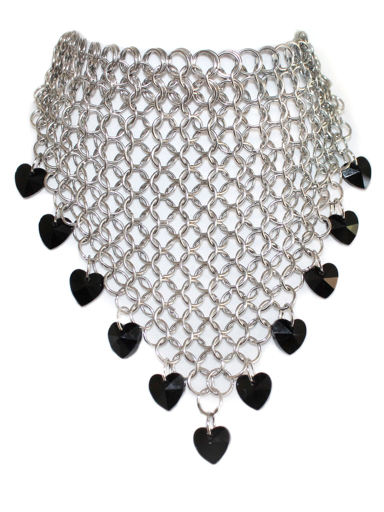 Rebel Heart Chainmail Bandanna Choker - shopoceanmoon