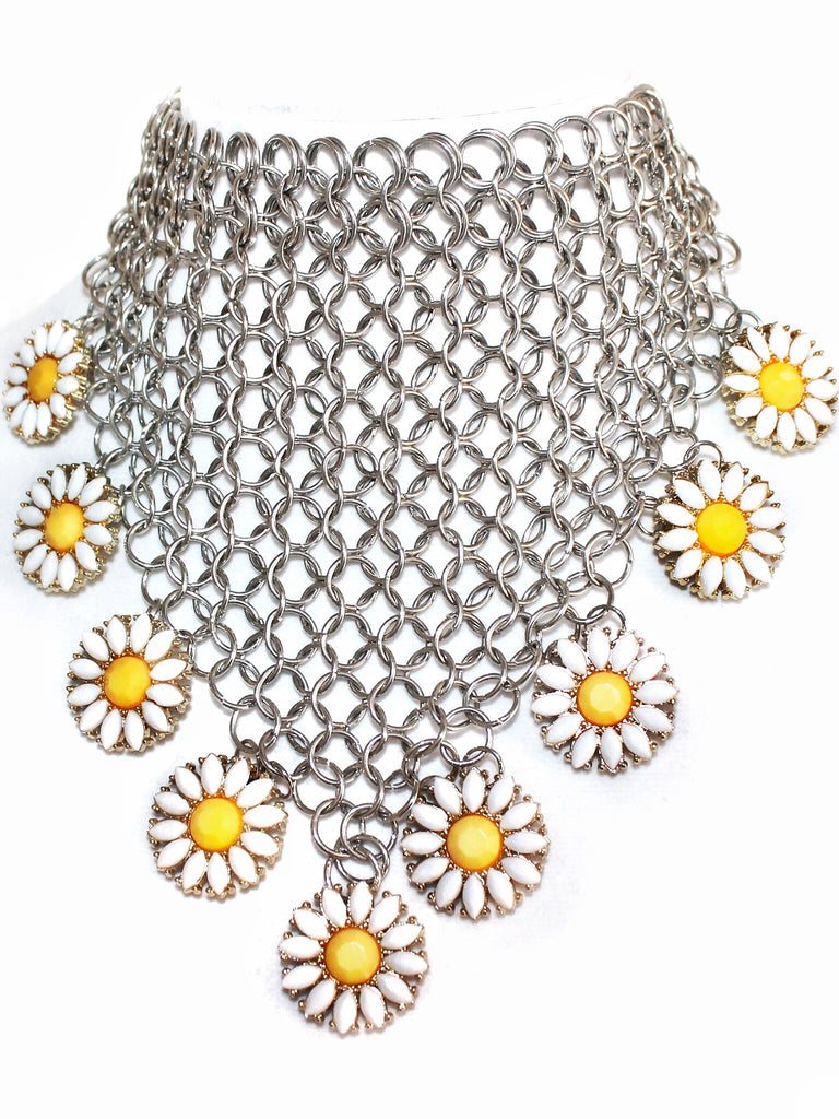 Electric Daisy Chainmail Bandanna Choker - shopoceanmoon