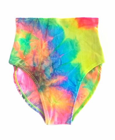 Day Trip Tie Dye Velvet High Waisted Bottom