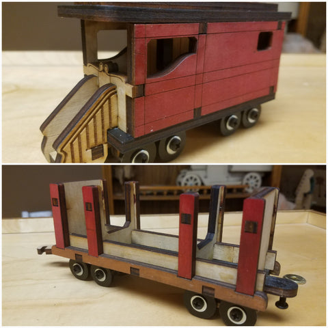 Log Carrier and Caboose