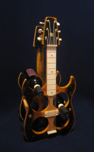 6 Bottle Electric Guitar Wine Rack