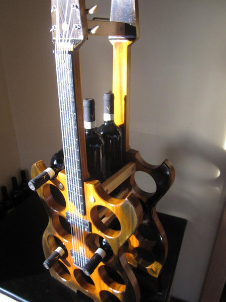13 Bottle Electric Guitar Wine Rack
