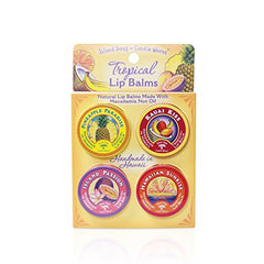 Island Soap and Candle Works - 4 Pack Natural Lip Balm Tins - Lilly's Bathcarry