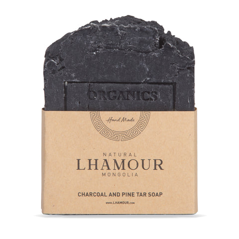Lhamour Charcoal and Pine Tar Soap