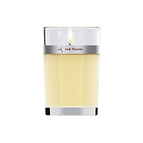 Red Flower - Spanish Gardenia Petal Topped Candle 6 oz