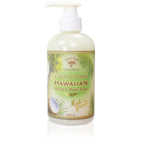 Island Soap and Candle Works - Creamy Coconut Hawaiian Hand and Body Soap - Lilly's Bathcarry - 1