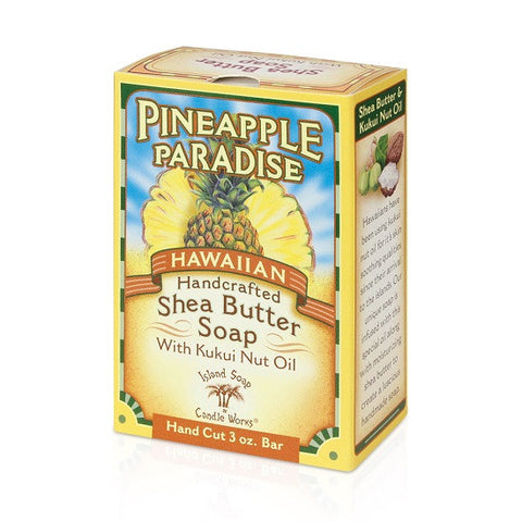 Island Soap and Candle Works - Pineapple Paradise Shea Butter Bar Soap - Lilly's Bathcarry