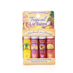 Island Soap and Candle Works - Tropical Lip Balms 4-Pack Gift Set - Lilly's Bathcarry