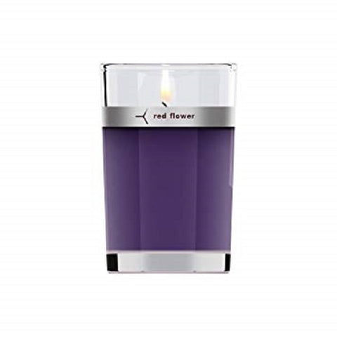 Red Flower - French Lavender Petal Topped Candle 6 oz