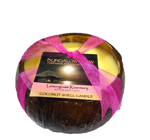 Bubble Shack Hawaii - Bungalow Glow Lemongrass Coconut Shell Soy Candle