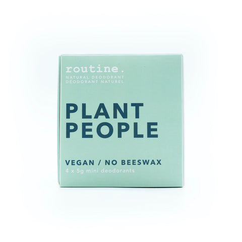 Routine Natural Deodorant Cream- Plant People Minis Kit (4 Scents)