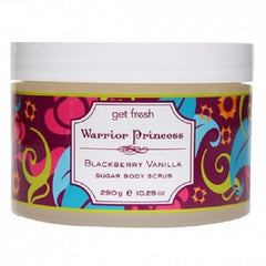 Get Fresh - Warrior Princess Blackberry Vanilla Sugar Body Scrub - Lilly's Bathcarry
