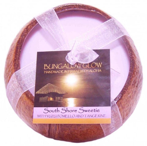 Bubble Shack Hawaii - Bungalow Glow South Shore Sweetie Coconut Shell Soy Candle
