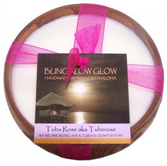 Bubble Shack Hawaii - Bungalow Glow Tuba Rose aka: Tuberose Soy Poi Bowl Candle - Lilly's Bathcarry