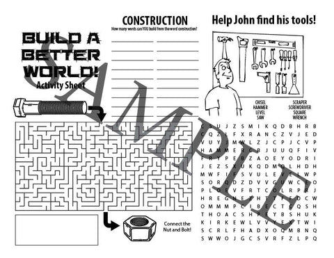 Build a Better World Activity Sheet