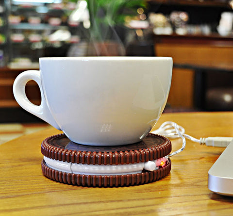 Hot Cookie Shaped Cup Warmer Mat USB Powered Biscuit
