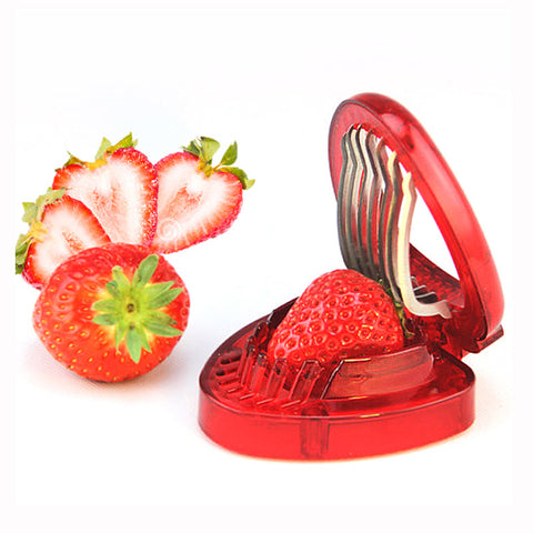 2016 New Kitchen Gadgets Strawberry Slicer With Stainless Steel Blade