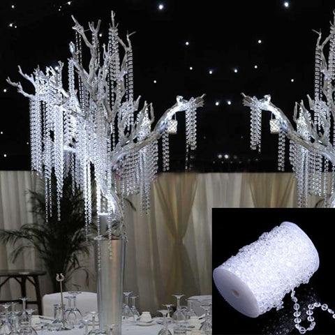 30M Shining Crystals Curtain Decor