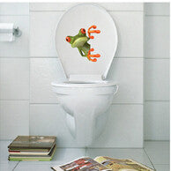 funny frog stickers Vinyl Toilet Sticker The Throne Closetool Decal Art Home Decor Decals DIY Mural Barthroom Wall Stickers