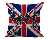 "Home Decor Cotton Linen /plush Decorative Throw Pillowcase Retro Cushion the Beatles Designs 18"" Cushion"