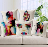 Decorative Body Pillow Case New Fashion Pillow Case Painting Art Beauty Body Soft Fitted Cotton Pillowcase