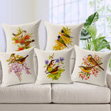 New arrival  cushion fresh hand-painted flowers pillow cushion decorative throw pillows