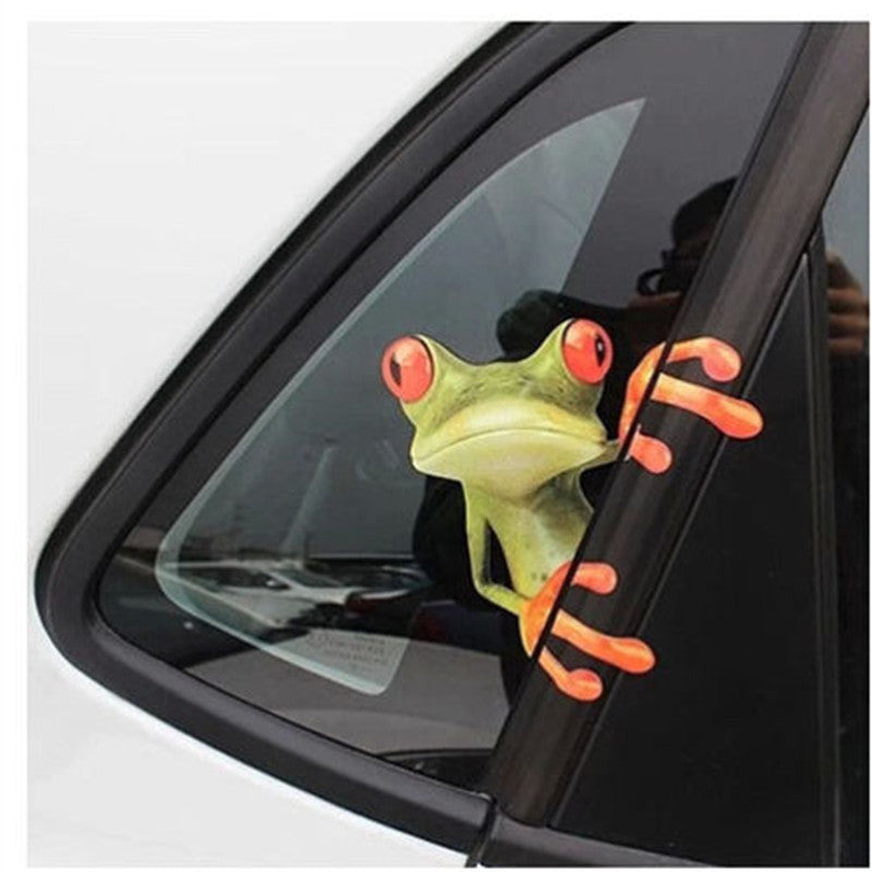 Hot Selling 3D Cute Peep frog funny stickers Truck Vinyl Decal Graphics Auto laptop skin