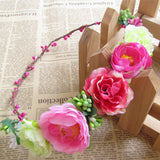 variety of colors mixing garland Prom decorations headdress wedding headbands of artificial flowers hair accessories photography