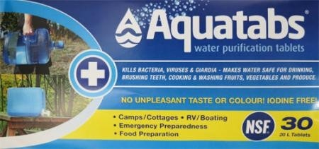 Aquatabs 20L Tablets - Up The Nipissing