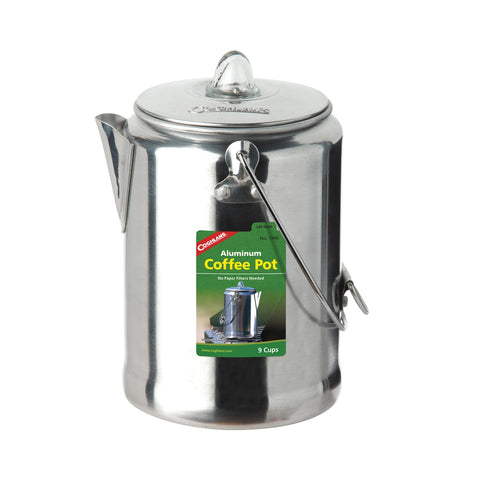 Aluminum 9-Cup Coffee Pot - Up The Nipissing
