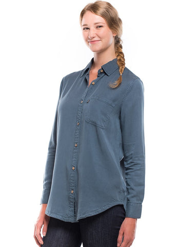 Lush Tencel Button Up Long Sleeve